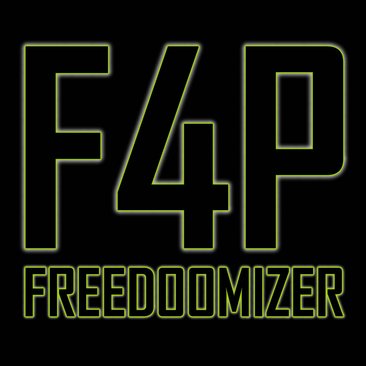 F4P = FREEDOOMIZER 4 PLATIN Logo Black Edition