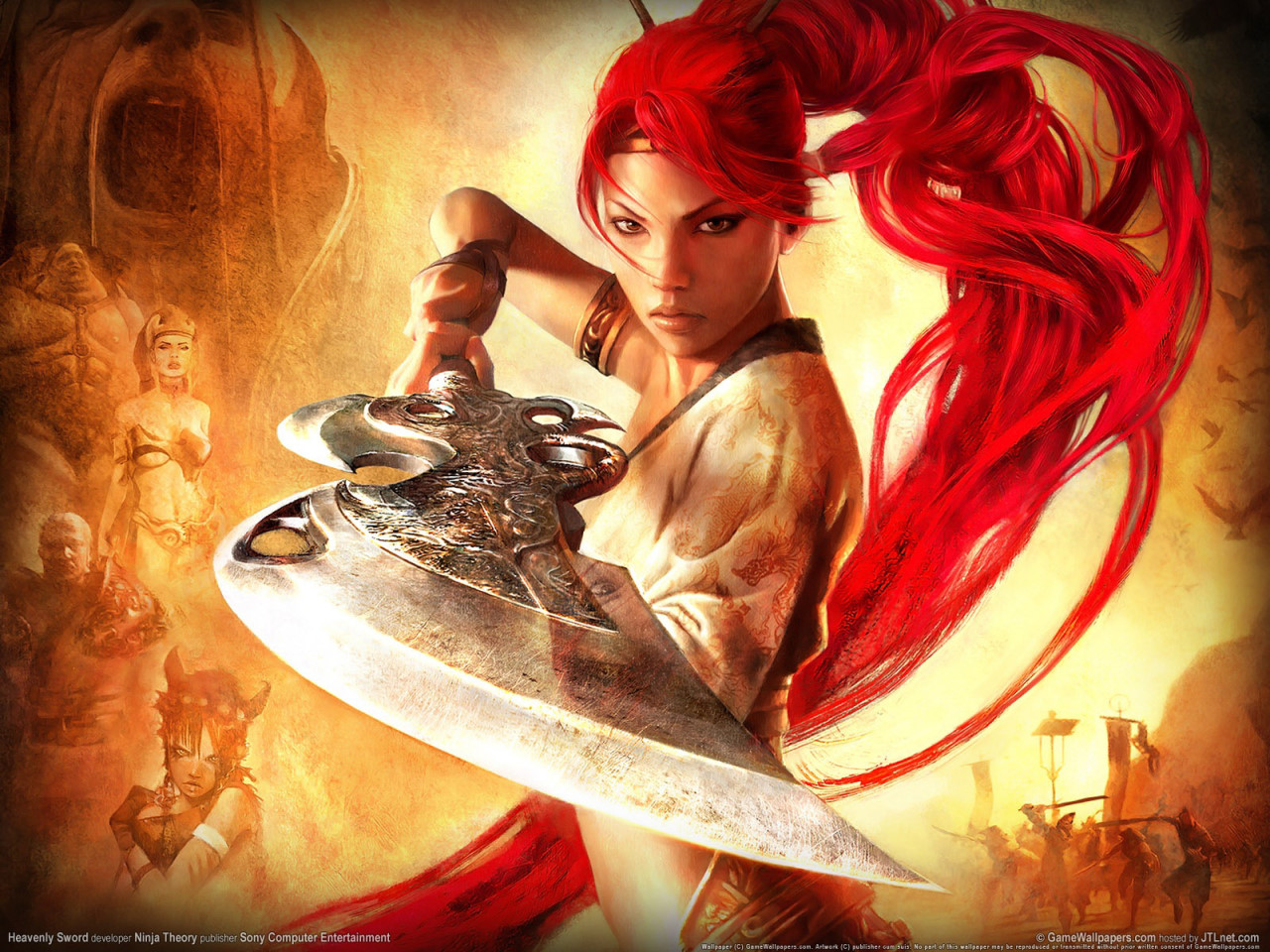 Nariko Redhair Warrior Wallpaper