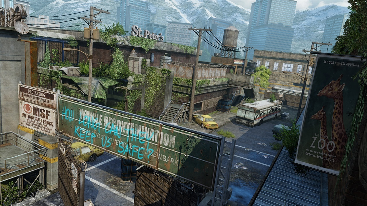 The Last of Us - Verlassene Gebiete Maps - Busdepot