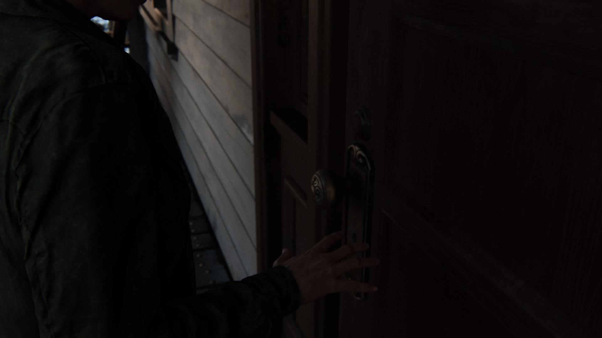 ... Und Ellie Zögert Die Tür Zu Seinem Haus Zu öffnen.