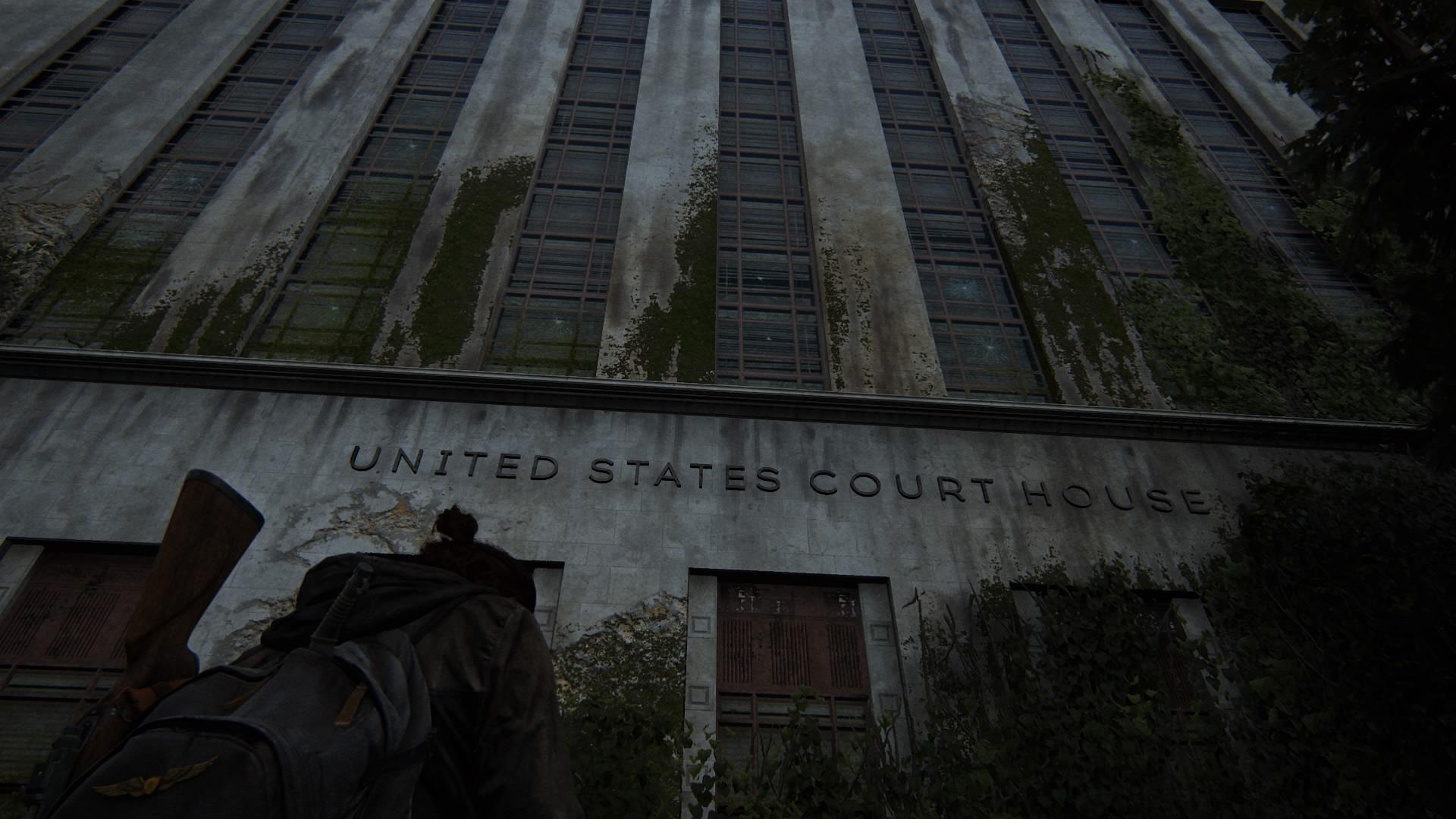 ... Das Nötige Benzin In Der Garage Des US-Gerichtsgebäudes Geholt Werden.