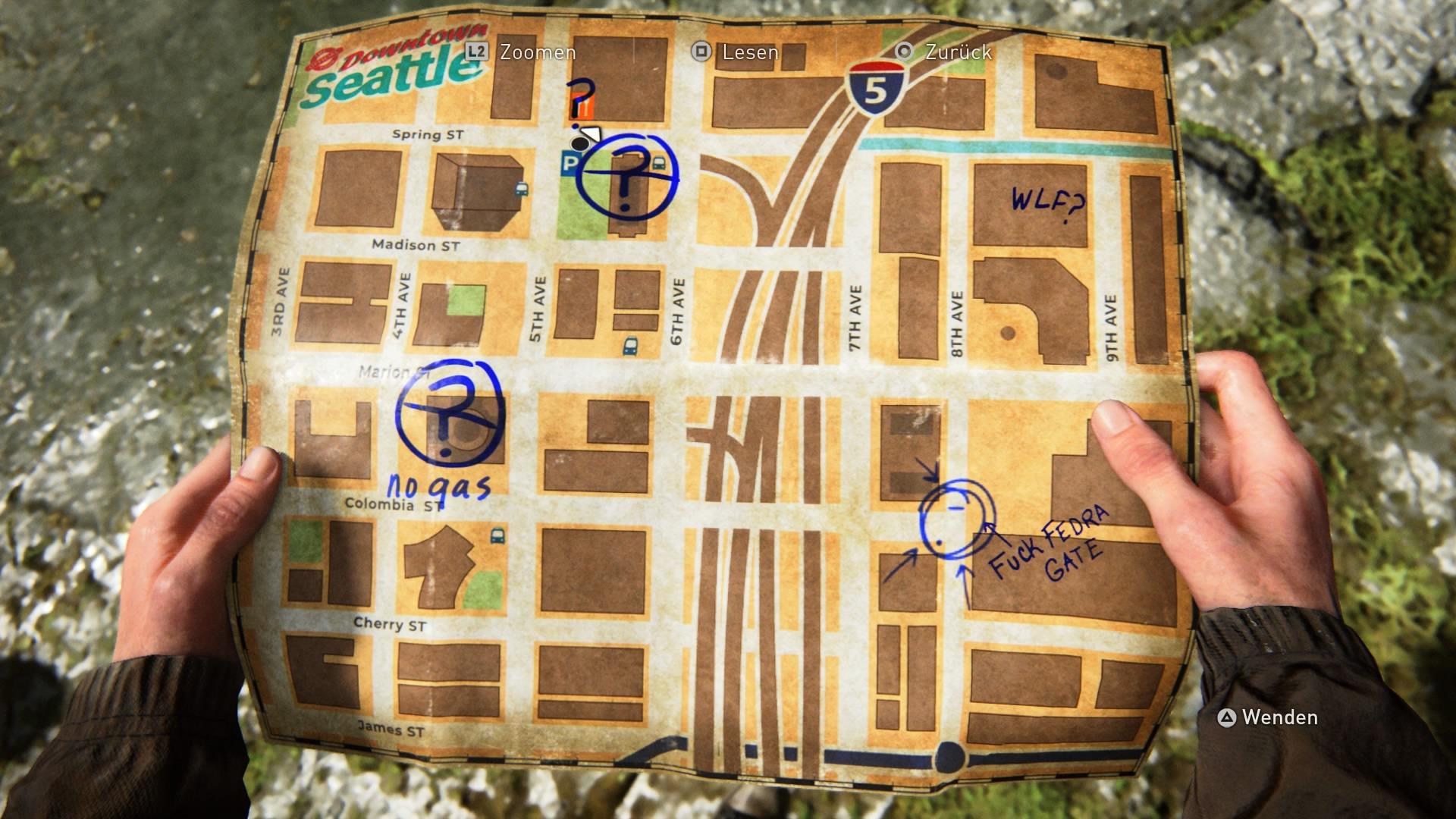 Die Touristen-Map Zeigt Den Nächsten Stop.