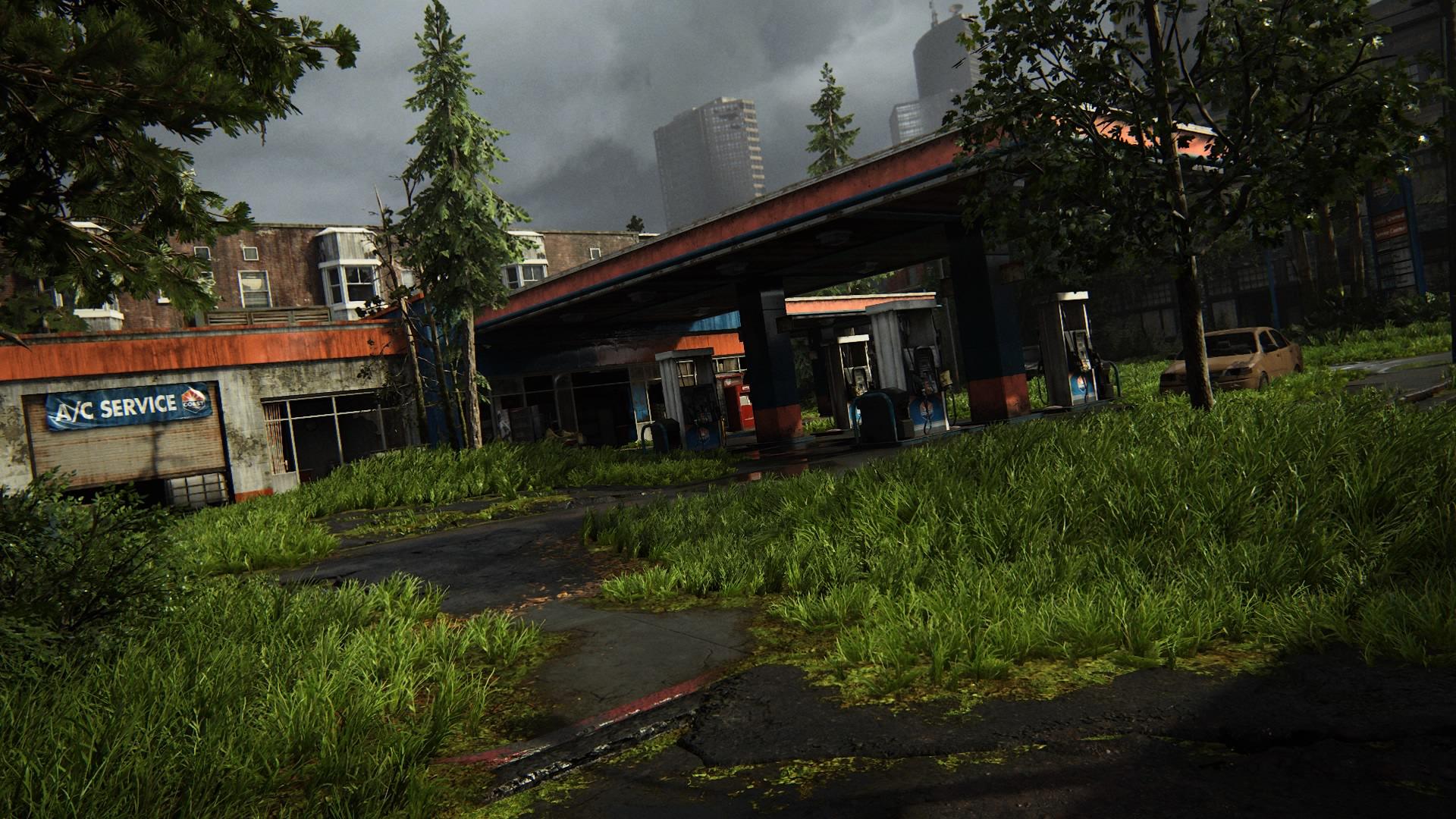 Eine Verlassene Tankstelle Passieren ...