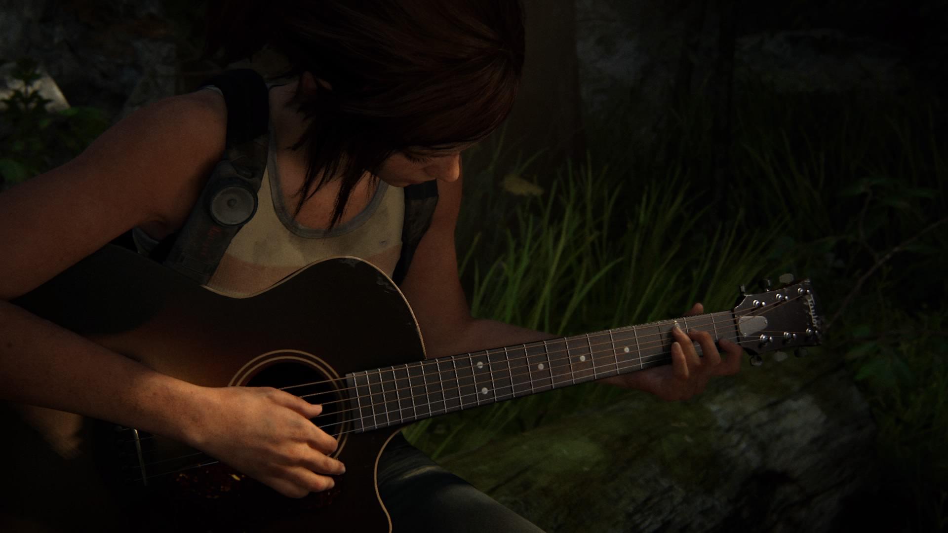 3 Jahre Vorher - Ellie Spielt Gitarre Bei Einem Waldausflug Mit Joel
