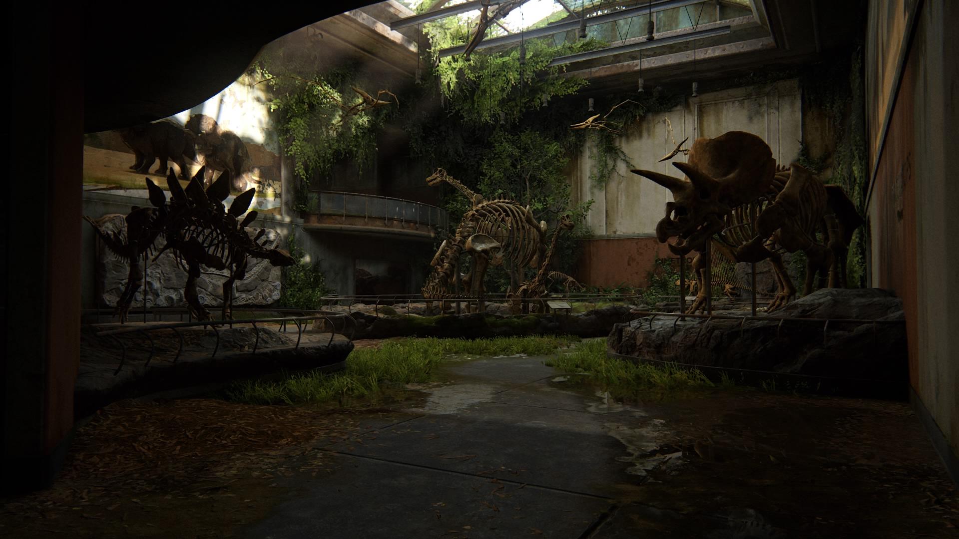 Parterre Gibt Es Alle Dinosaurier-Skelette Zu Sehen ...