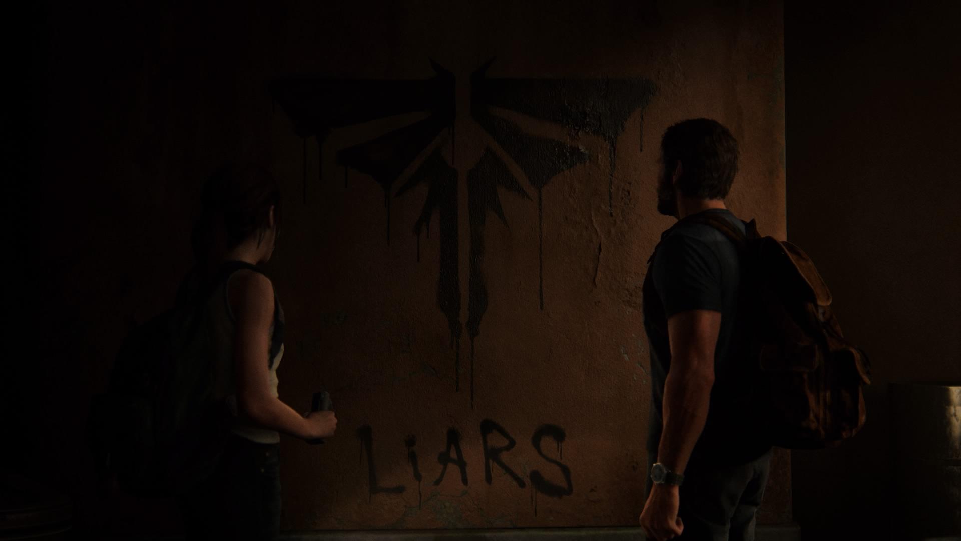 Am Ende Des Besuchs Gibt Es Ein Wandgraffiti - Das Firefly-Logo Mit Dem Untertitel Liars (Lügner).