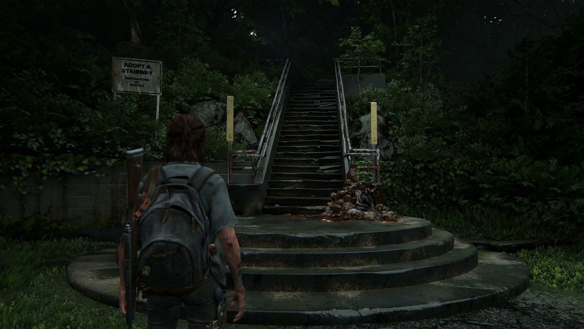 Eine Treppe Führt Hoch Zu Einem ...