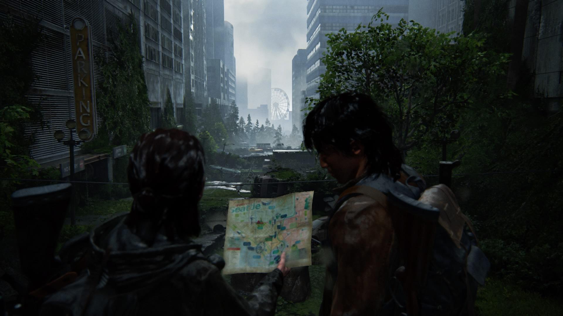 Ellie Und Jesse Schauen Sich Gemeinsam Die Beste Route An,