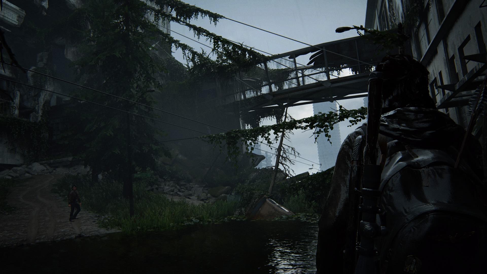 ... Und Führt über Verfallene Verbindungsbrücken.