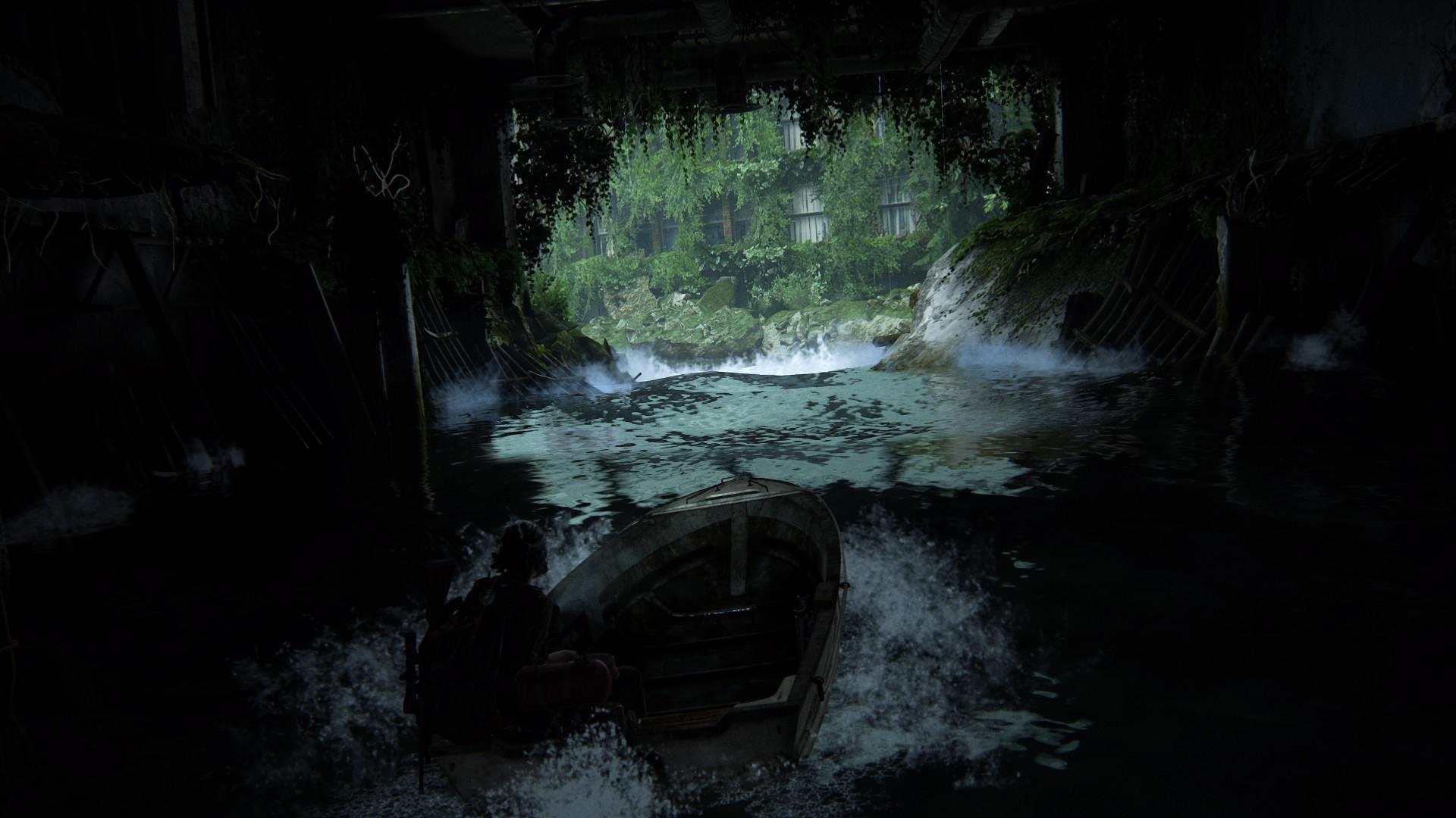 ... Und Setzt Den Weg Durchs überflutete Straßenbild über Das Wasser Fort.